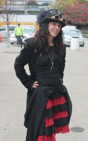 Philtoberfest, Masquerade on Market Square, Rebecca Hubbard of Tuatha Dea, Knoxville, October 2012