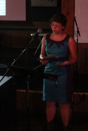 Raluka Iancu, Pecha Kucha, Barley's, Knoxville, July 2013
