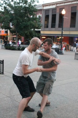 Tai Chi, Market Square on a Wednesday Night, Knoxville, July 2013