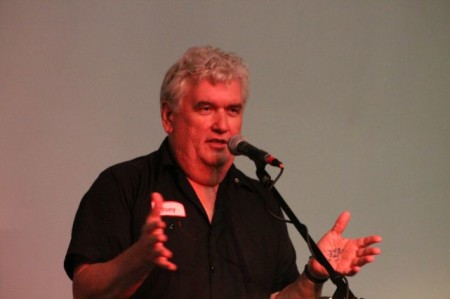 Tony Lawson of WDVX, Relix Theater, Knoxville, July 2013