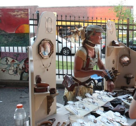 Vendor at the Steampunk Carnivale, Knoxville, June 2013