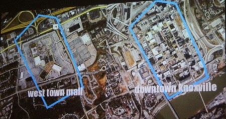 West Town Mall vs. Downtown Knoxville Comparison, Pecha Kucha, Knoxville, July 2013