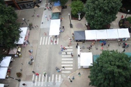 Aerial View of the Market Square Farmers' Market, Knoxville, Summer 2013