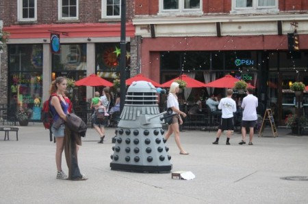 Dr. Who Character, Market Square, Knoxville, Summer 2013