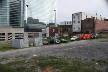Former News Sentinel Site, Corner of Church and State, Knoxville, August 2013