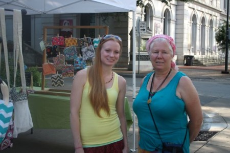 Nancy Roberson (of RichRobes Weaving and Tapestry), Market Square Farmers' Market, Knoxville, Summer 2013