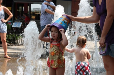 Queen of the Fountain, Market Square, Knoxville, Summer 2013