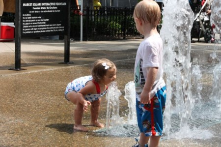 """""""You are not doing that!"""" Market Square Fountain, Knoxville, Summer 2013"""