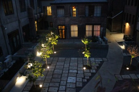 Courtyard of the Armature Building at Night, Knoxville, September 2013