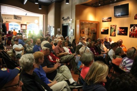 Crowd at the Blue Plate Special, Knoxville Visitor's Center, September 2013