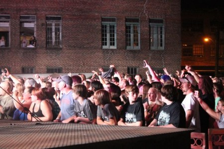 Crowd at the Old City Courtyard, Knoxville, September 2013