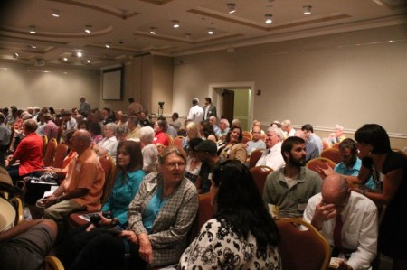 Crowd for the Ageless Downtowns Symposium, East Tennessee History Center, Knoxville, September 2013