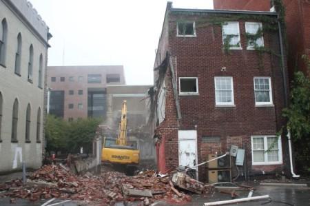 Destruction of 710 and 712 Walnut, Knoxville, September 21, 2013