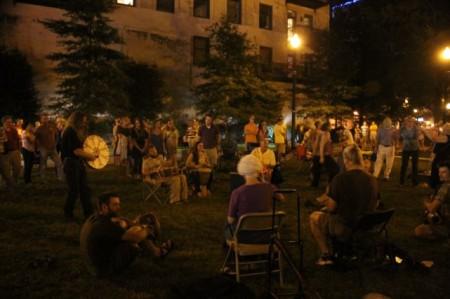 Drum Circle in Krutch Park, Knoxville, September 2013