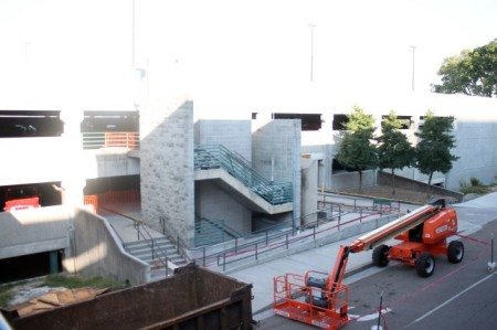Finishing Touches to the Re-vamped State Street Garage, Knoxville, September 2013