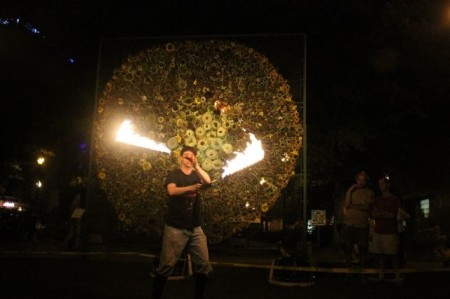 Fire Twirling, Krutch Park, Knoxville, September 2013