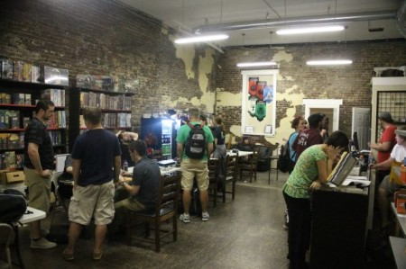 Gamers Inside Organized Play, Central Street, Old City, Knoxville, September 2013