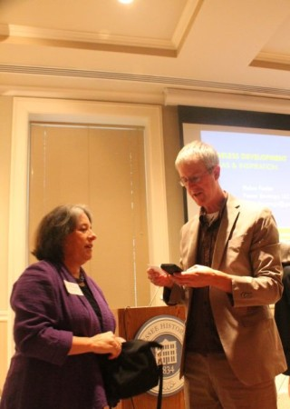 Jeff Speck and Mayor Rogero at the Ageless Downtowns Symposium, East TN History Center, Knoxville, September 2013
