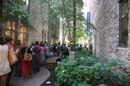 Line for the Donald Brown Jazz Show, Square Room, Knoxville, September 2013