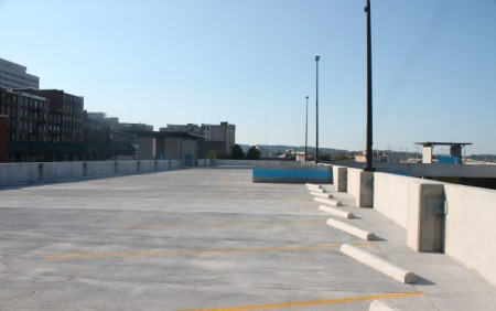 Newly added Top Floor of the State Street Garage, Knoxville, September 2013