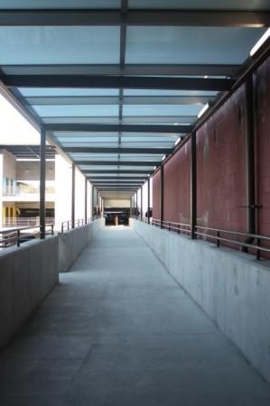 Pedestrian Bridge to Re-vamped State Street Garage, Knoxville, September 2013