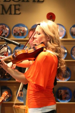 Abbie Hoerner of the Ridge City Ramblers, WDVX Blue Plate Special, Knoxville Visitor's Center, September 2013