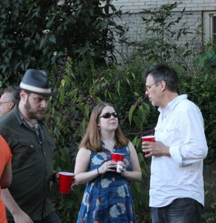 Russell, Jodie and RB at the Fort Sanders Homecoming, James Agee Park, Knoxville, September 2013