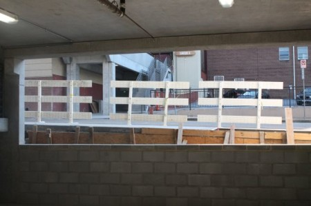 Second Floor of the State Street Garage Looking out onto State Street, Knoxville, September 2013