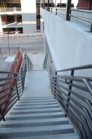 Stairs from State Street up to Gay Street, Knoxville, September 2013