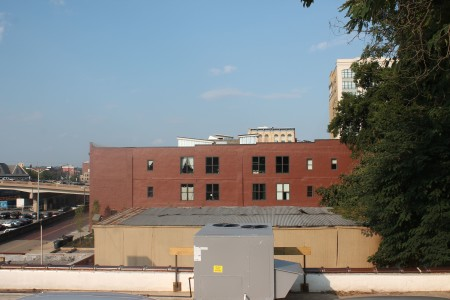 Veiw from The Standard to the East (Armature with Red Brick), Jackson Avenue, Knoxville, September 2013