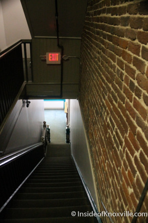 Stairwell down to the Remedy Coffee side, 125 West Jackson, Knoxville, October 2013