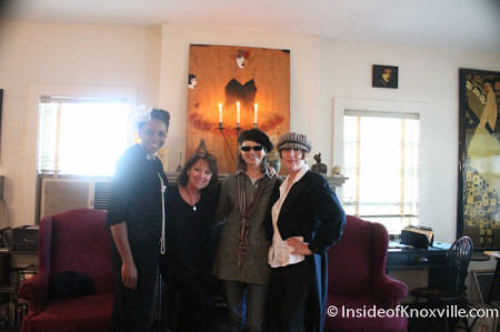 Evelyn Gill, Cynthia Markert, Judy Loest, Andie Ray, Maplehurst, Knoxville, October 2013