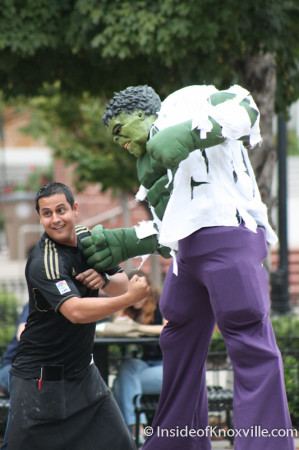 Hulk, Market Square, Knoxville, October 2013