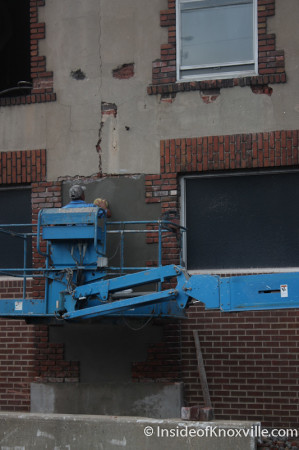 Work on Small Building beside the White Lily Building, Central Avenue, Knoxville, Summer 2013
