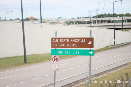Bizarre Sign on James White Parkway, Knoxville, Summer 2013
