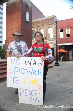 Protest Against Military Intervention in Syria, Knoxville, September 2013