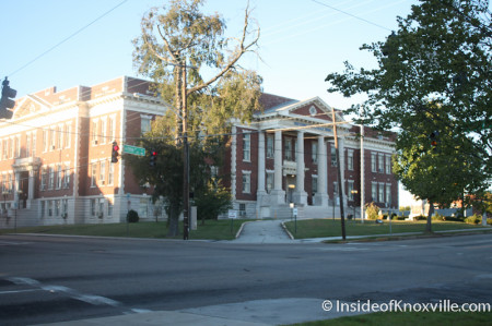 Knoxville High School, Fifth Avenue, Knoxville, October 2013