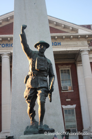Doughboy, Knoxville High School, Fifth Avenue, Knoxville, October 2013
