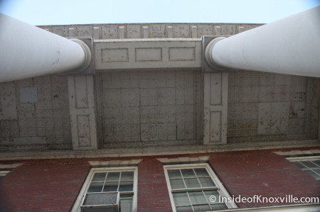 Columns and Ceiling at the entrance to Knoxville High School, Fifth Avenue, Knoxville, October 2013