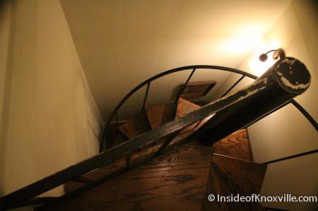 Spiral Staircase, Maplehurst Inn, 800 West Hill Avenue, Knoxville, October 2013