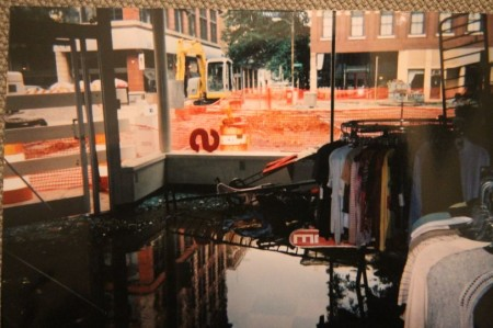 Reruns Boutique on Market Square, Flooded 2002