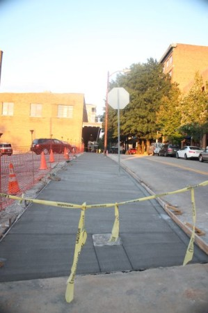 Sidewalk on Union Avenue, Knoxville, October 2013