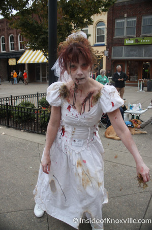 Wendy Seaward, Zombie, Market Square, Knoxville, October 2013