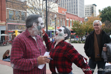 Father and Son Zombie Bonding, Market Square, Knoxville, October 2013
