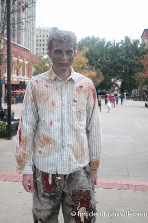 Zombie, Market Square, Knoxville, October 2013