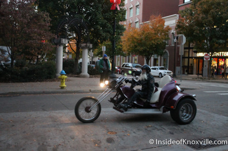 Chopper on Union Avenue, Knoxville, November 2013