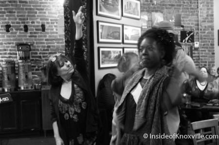 Cynthia Markert and Kelle Jolly, Bella Luna, Market Square, Knoxville, November 2013