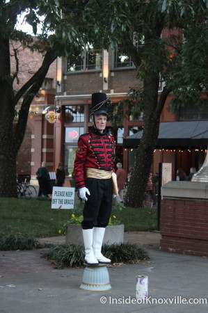 Holiday Nutcracker Busker, Market Square, Knoxville, November 2013