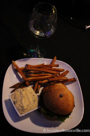 Fried Eggplant Sandwich, Icon Restaurant and Lounge, Sunsphere, Knoxville, November 2013