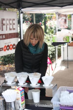 Java Coffee, Market Square Farmers' Market, Knoxville, November 2013